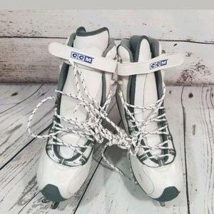 CCM WHITE ICE SKATES SP 75 SIZE 8